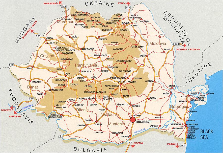 Cartina Romania Transilvania.Transilvania Map Rodaviaggiando