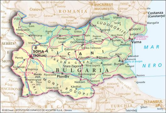 Risultati immagini per cartina bulgaria politica