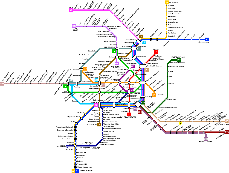 Cartina Metropolitana Di Parigi Da Stampare.Cartina Metropolitana Vienna Rodaviaggiando