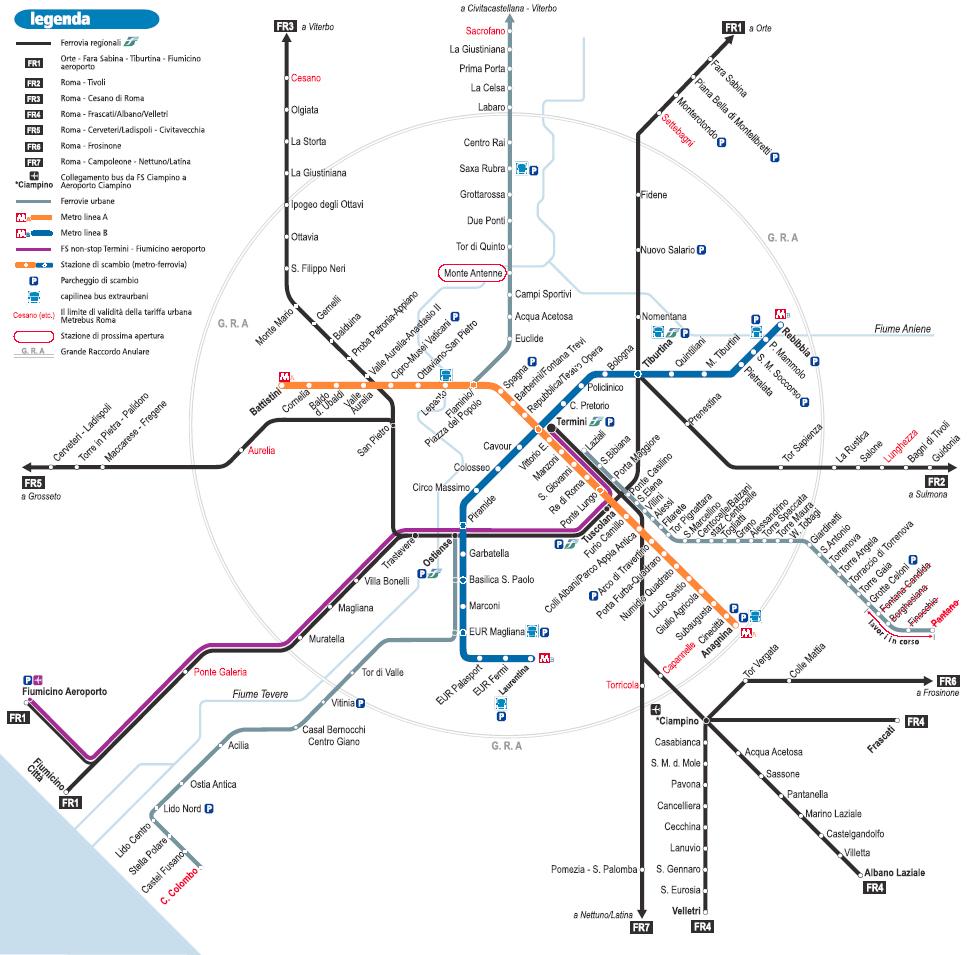 Cartina Metropolitana Roma Pdf.Mappe E Cartine Rodaviaggiando